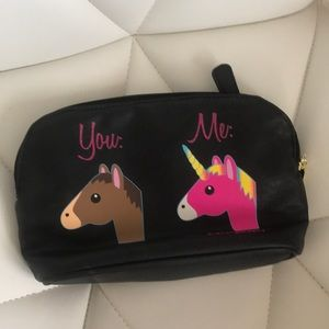 Betsey Johnson unicorn makeup bag